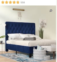 BRAND NEW KING BED FRAME — BLUE Washington