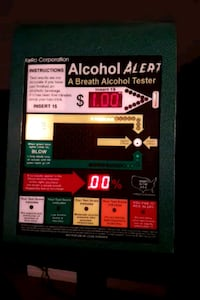 Breathalyzer vending machine. Accurate Edmonton, T5T 6E2
