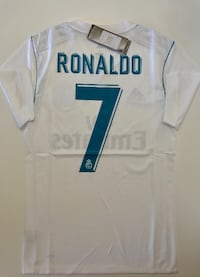NWT RONALDO REAL MADRID HOME PLAYER SOCCER JERSEY SIZES AVAILABLE (S, M, L, X-L) Chandler