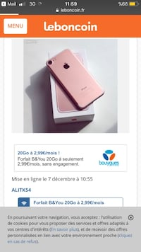 Rose d'or iphone 7