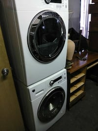 Like new stackable washer and dryer