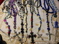 eight assorted beaded accessories