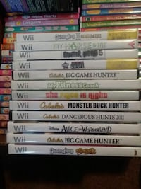 Kids dvds and a few Wii games