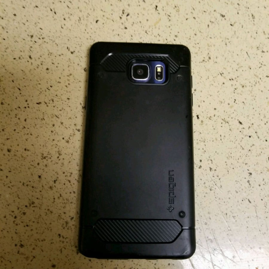 black Samsung Galaxy android smartphone Note 5