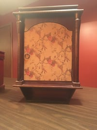 Antique large wood curio cabinet bought in Hudson