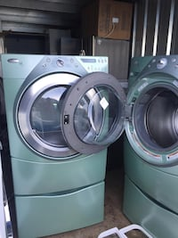 two gray front load washing machines Sterling, 20166