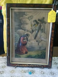 RARE CURRIER AND IVES RELIGIOUS PRINT  804 mi