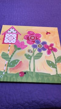 beige and multi-colored floral painting Mission, 78573