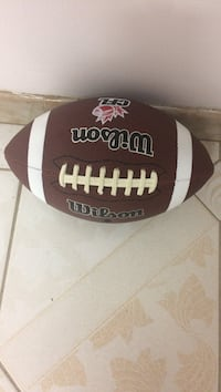 brown and white Wilson football