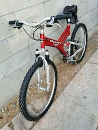 red and white full-suspension bike Los Angeles, 90044