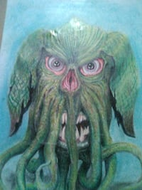 brown and green owl painting Columbia, 65202