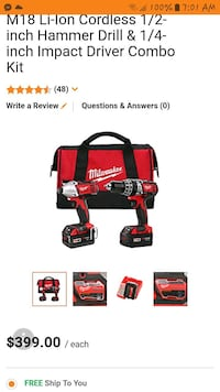 red and black Milwaukee power tool screenshot Edmonton