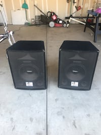 Two black and gray speakers Bakersfield, 93313