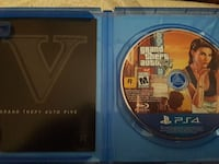 Grand Theft Auto Five PS4 game disc