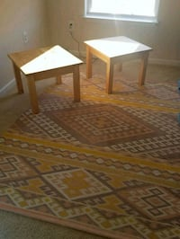 TWO IKEA END TABLES AND RUG Laurel, 20723