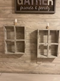 Rustic Wooden Window Frame Decor