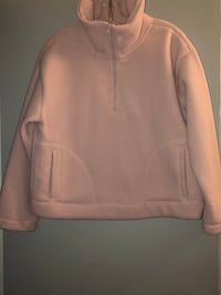 Priced to sell! Fashionable Large blush Teddy pull over with zipper.