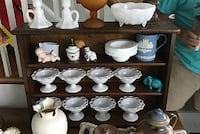 Large milk glass collection