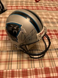 CAM NEWTON SIGNED AUTHENTIC CAROLINA PANTHERS  FOOTBALL HELMET!!!
