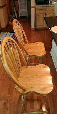 brown wooden windsor rocking chair Gray, 37615