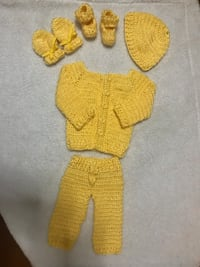 toddler's yellow knitted dress
