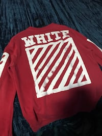 Red and white offwhite New York, 11209