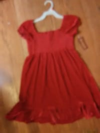 Red velvet Dress girls 7-8 new Vancouver, 98684
