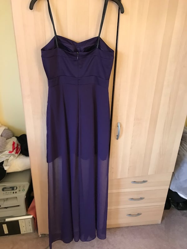 Size 2 xs new BCBG purple cocktail dress / XS evening gown with tags f929a974-89b4-4a87-a97b-f7464107806a