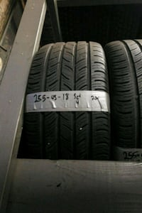 Size 255 45 18 set of 4 continental tires like new Waterbury, 06706