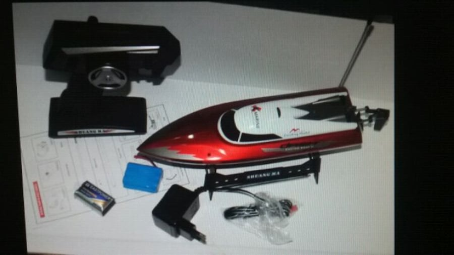 Shuang ma 7009 rc speed boat w/remote fast tested 2a4b5acc-d082-424b-8ccc-0935c3070944