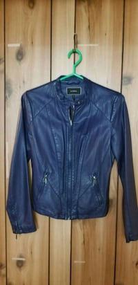 blue leather zip-up jacket Mississauga, L4Y 3B4