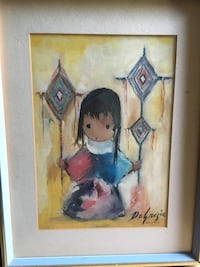 """For sale a de grazia lithograph  tittles """" heavenly blessing"""". asking $60"""
