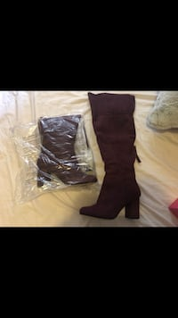 Brand New Never Worn Wine Thigh High Boots Vaughan, L4H 2S6