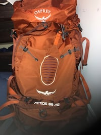 Brown and black leather backpack Pointe-Claire, H9R