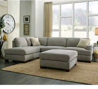 Brand New In Boxes! Sofa Sectional with Ottoman