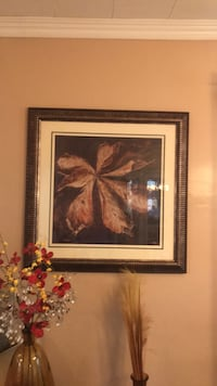 brown wooden framed painting of flowers Washington, 20024