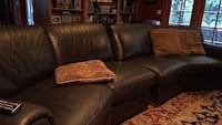 brown leather 2-seat sofa Pasadena, 91104