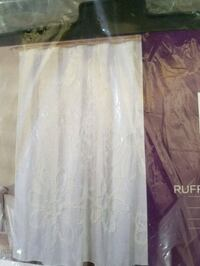 While formal shower curtain, brand new Aston, 19014