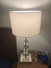 white and gray table lamp SEATTLE
