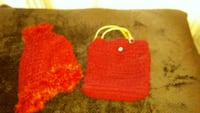 Handcrafted Shawl and Fire Engine Red Bag North Brunswick Township, 08902