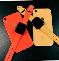two yellow and black iPhone cases 128 mi