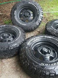 235/75/15 5lug. Abt 80% tread left tires were bought brand new