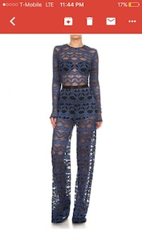 women's blue laced long sleeve overalls Miami, 33131