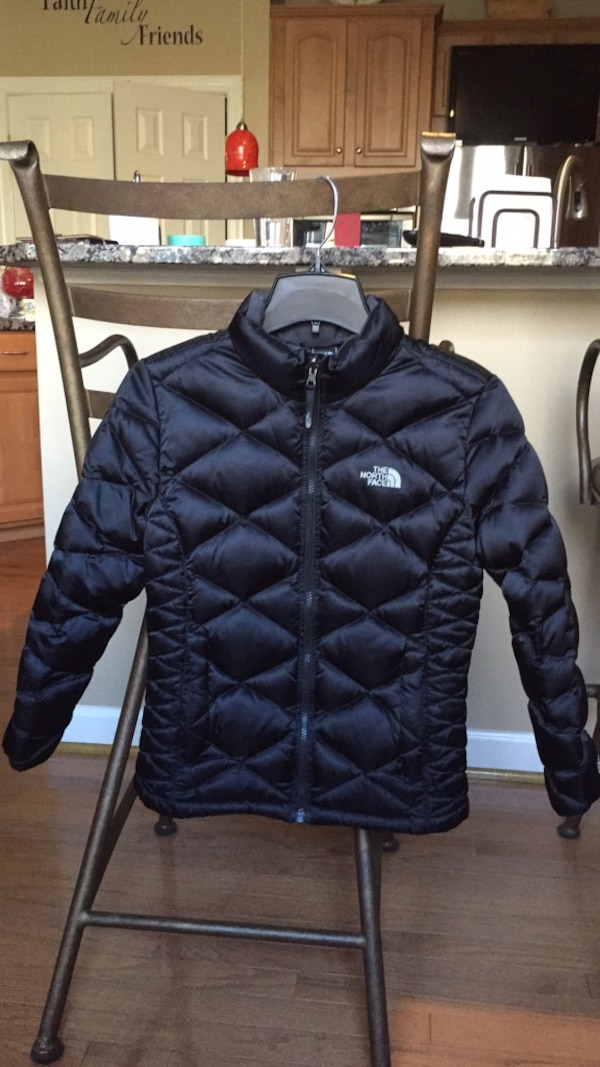 Girls North Face 550 Down Coat Black size Large (14/16)