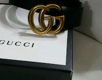 black Gucci leather belt with box Mississauga, L5W 1P1