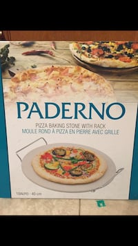 Pizza baking stone with rack  London, N5V