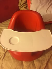 Baby's red and white floor chair