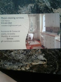 Medel Cleaning Services business card