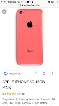 Produkt Red iPhone 7 plus skärmdump Göteborg