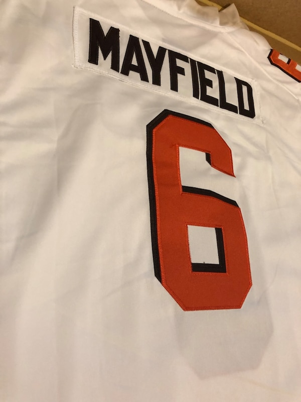 innovative design a72a8 2ec40 Cleveland Browns - Baker Mayfield #6 Nike Men's White NFL Game Jersey -  Size XL